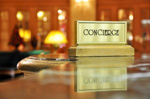 Concierge desk in a luxury hotel